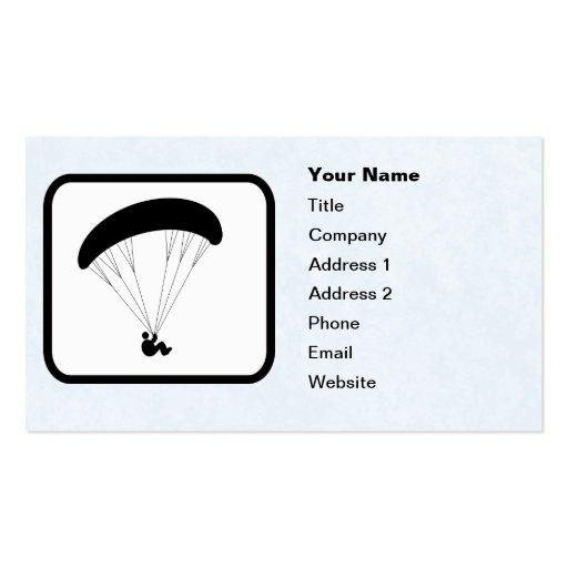 Paraglider Logo Customizable Template Business Card Template