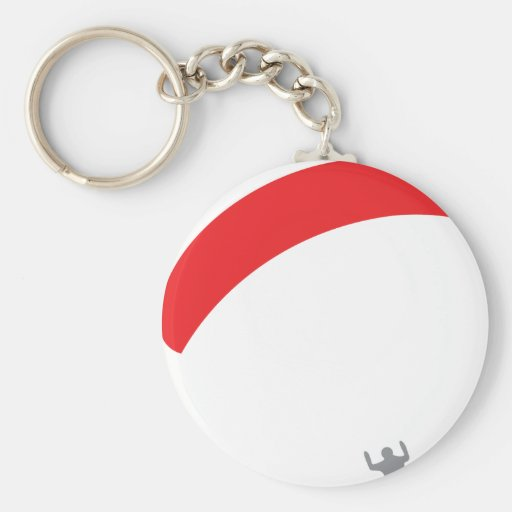 paraglider red - paragliding key chain