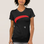 paraglider red - paragliding t-shirts