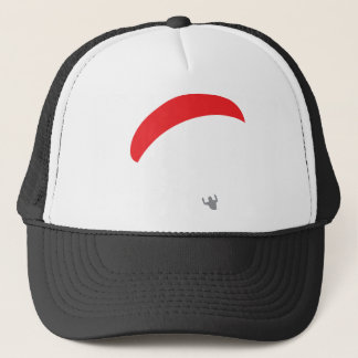 paraglider red - paragliding trucker hat