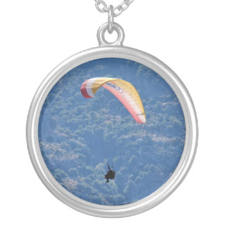 Paraglider Silver Plated Necklace