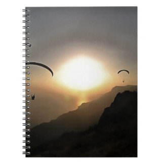 Paragliders Flying Without Wings Notebook