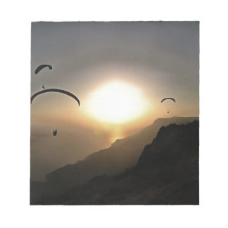 Paragliders Flying Without Wings Notepad