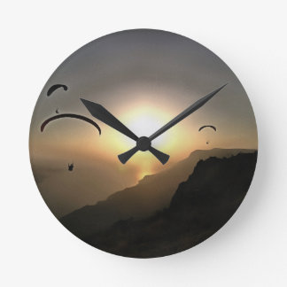 Paragliders Flying Without Wings Round Clock