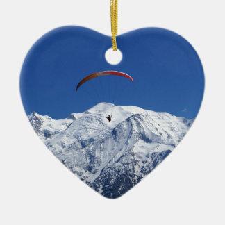 Paragliding Adorno Navideño De Cerámica En Forma De Corazón