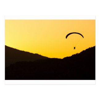paragliding-at-sunset postcard