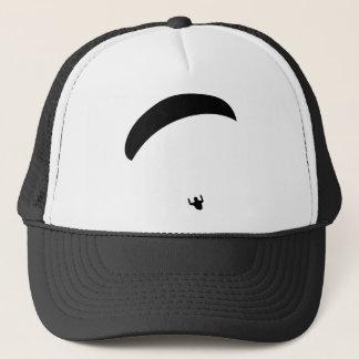 paragliding black icon trucker hat