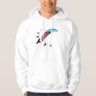 Paragliding con halcón pulóver con capucha