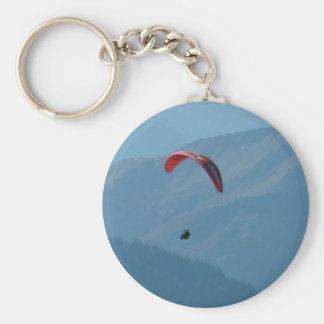 Paragliding del ala flexible llavero redondo tipo pin