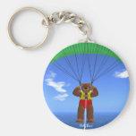 Paragliding Dinky Bear Key Chains