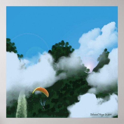 Paragliding en la impresión de los Andes