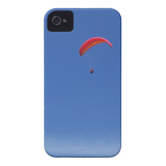 Paragliding in Blue Sky with Red Wing Case-Mate iPhone 4 Case