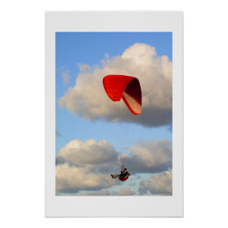 PARAGLIDING IN JERSEY No 2 Poster