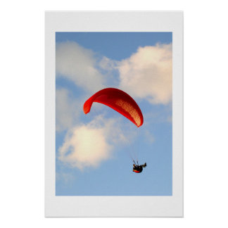 PARAGLIDING IN JERSEY POSTER