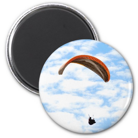 Paragliding in the Clouds - Customizable Magnet
