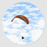 Paragliding in the Clouds - Customizable Stickers