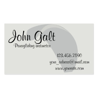 Paragliding instructor business card