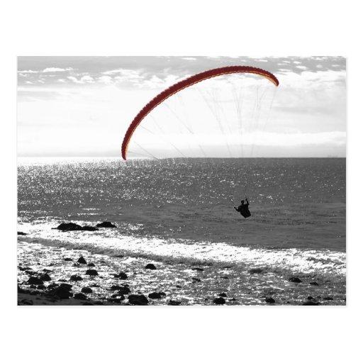 Paragliding por la postal del océano