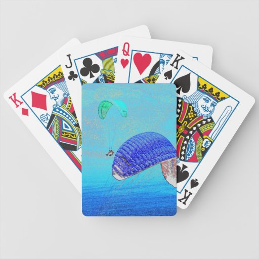 Paragliding Soaring Bicycle Playing Cards