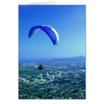 Paragliding sobre Honolulu Tarjeta