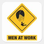 Paragliding Square Sticker