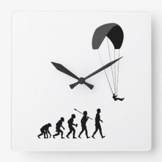 Paragliding Square Wall Clock