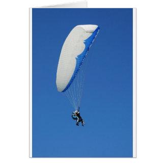 paragliding tarjeta de felicitación