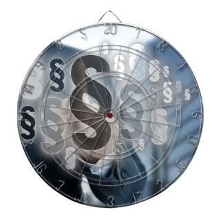 Paragraphs are selected by businessman dart board