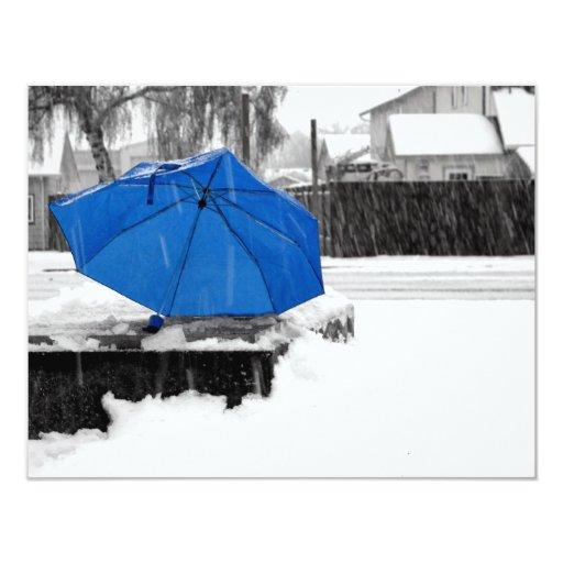 Paraguas azul comunicado