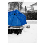 Paraguas azul tarjetas