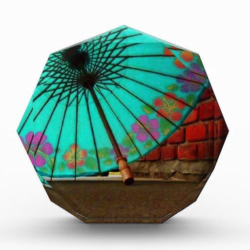Paraguas chino azul