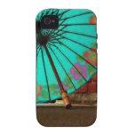 Paraguas chino azul iPhone 4 funda