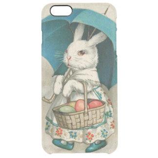 Paraguas coloreado cesta del huevo del conejito de funda clear para iPhone 6 plus