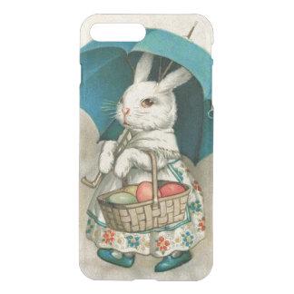 Paraguas coloreado cesta del huevo del conejito de fundas para iPhone 7 plus