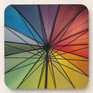 Paraguas colorido posavaso