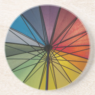 Paraguas colorido posavasos manualidades