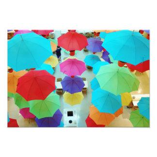 Paraguas coloridos cojinete