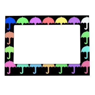 Paraguas coloridos marcos magneticos para fotos