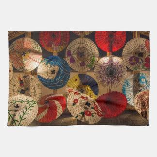 paraguas coloridos toallas de mano