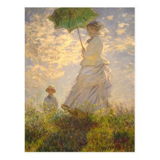 Paraguas de de la promenade del La de Claude M Postal