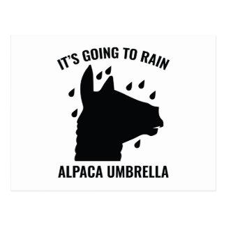 Paraguas de la alpaca postal