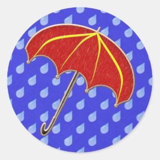 Paraguas de la ducha de bebé: Sellos del sobre de Pegatina Redonda