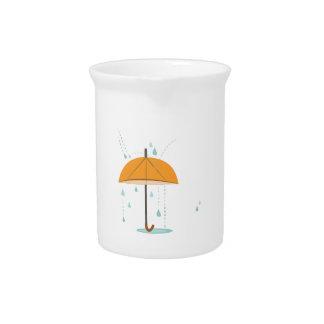 Paraguas de la lluvia jarron
