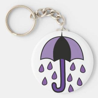Paraguas de la lluvia llavero redondo tipo pin