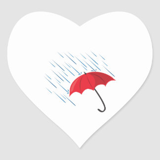 Paraguas de la lluvia calcomania de corazon