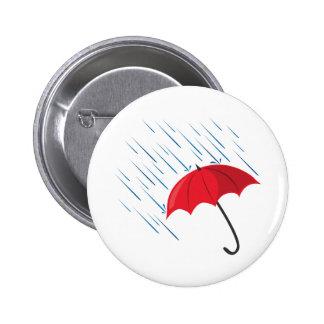 Paraguas de la lluvia pin redondo de 2 pulgadas