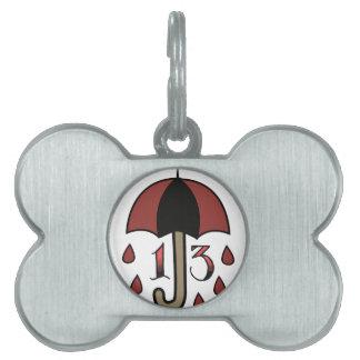 Paraguas de la mala suerte placas mascota