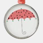Paraguas de la primavera de la sandía ornamentos para reyes magos