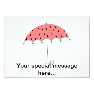 """Paraguas de la primavera de la sandía invitación 5"""" x 7"""""""