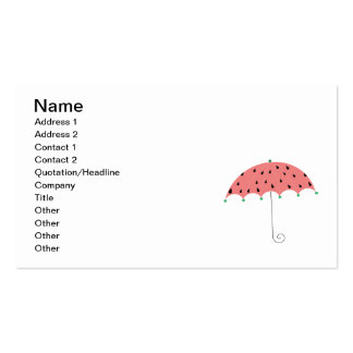 Paraguas de la primavera de la sandía tarjetas de visita